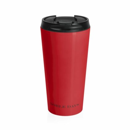 CC deep red Stainless Steel Travel Mug - Noble Days