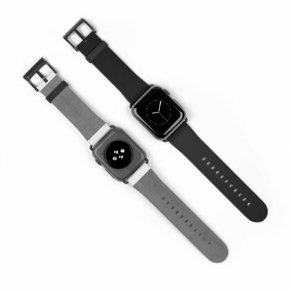 All Black Leather Watch Band - Noble Days