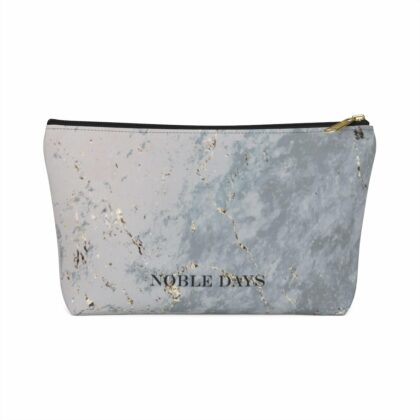 Grey Marble Pouch w T-bottom - Noble Days