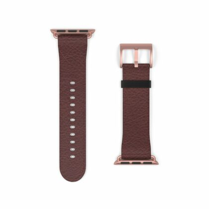 Wine Brown Leather Watch Band - Noble Days