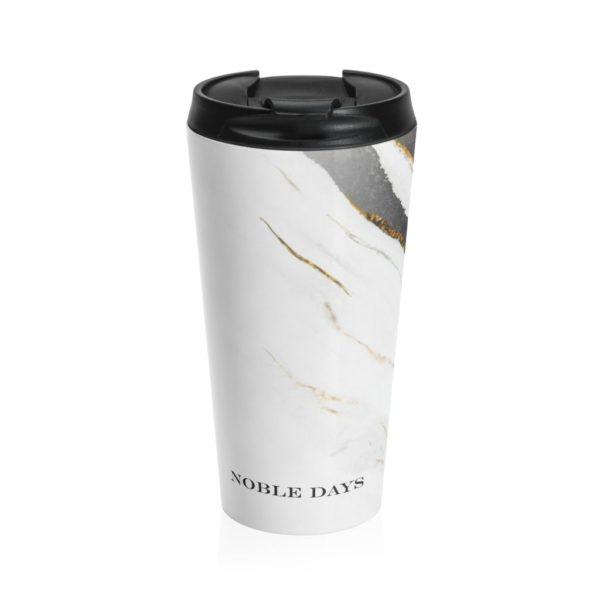 Zebra Marble Stainless Steel Travel Mug - Noble Days