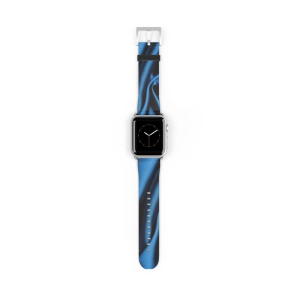 Silk Series: 3D Deep Blue Silk Watch Band - Noble Days