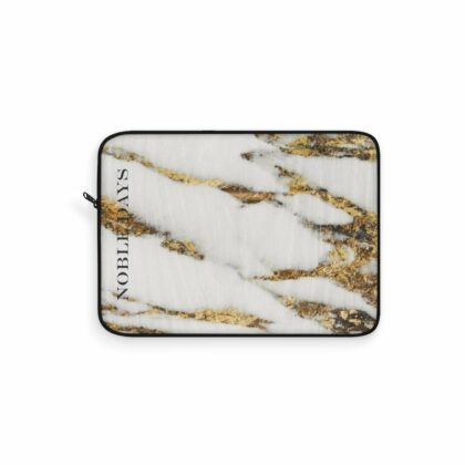 Gold and White Marble Laptop Sleeve - Noble Days