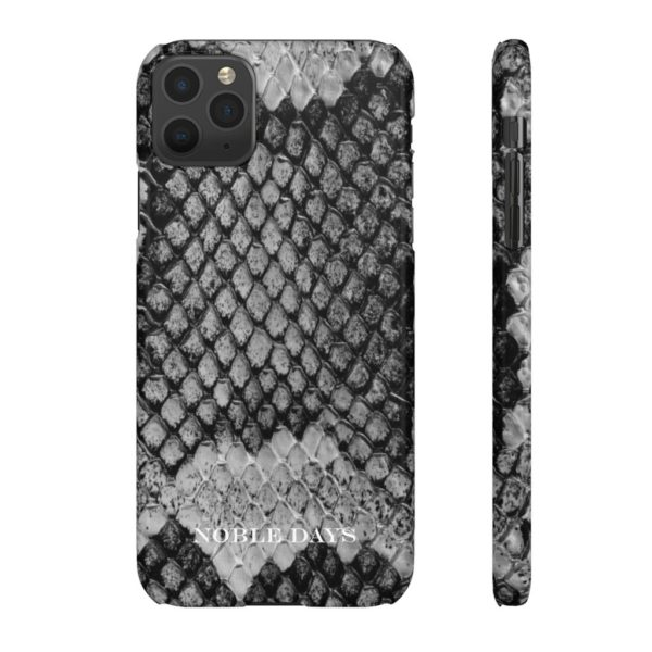 Snake Skin Black & White Snap Cases - Noble Days