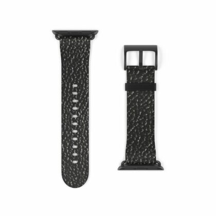 Black Leather Watch Band - Noble Days