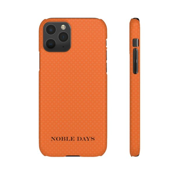 Orange Impulse Plaid Phone Cases - Noble Days