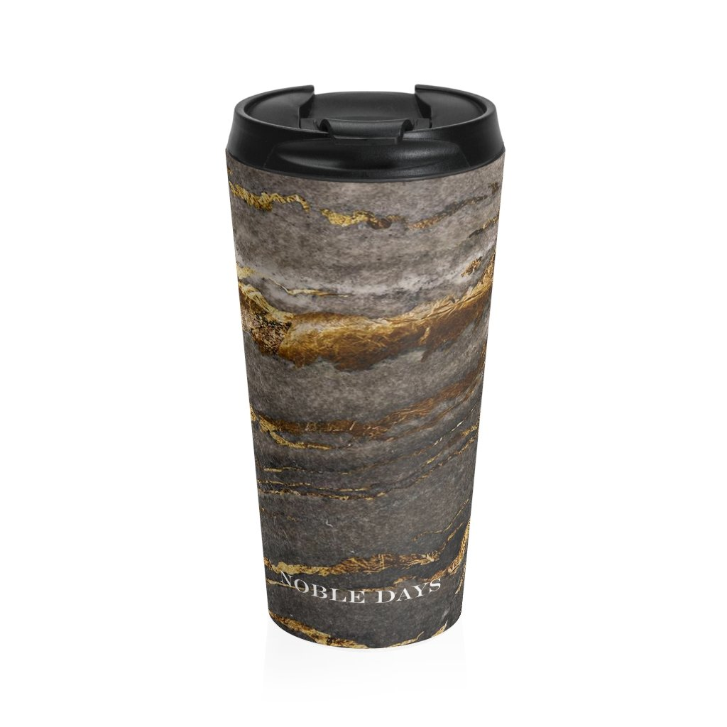 Gray Wolf Stainless Steel Travel Mug - Noble Days