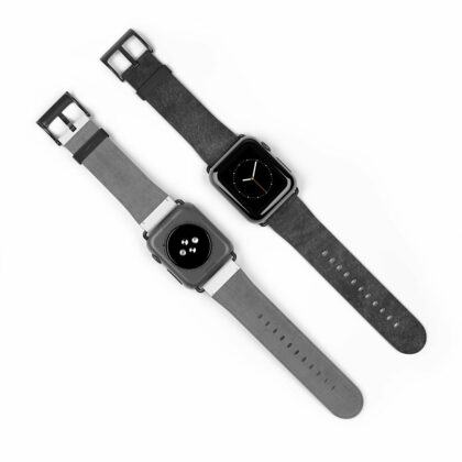 Washed Black Leather Watch Band - Noble Days