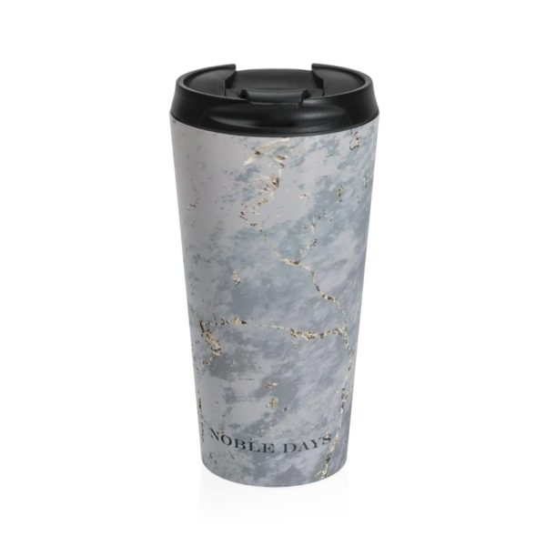 Grey Marble Stainless Steel Travel Mug - Noble Days