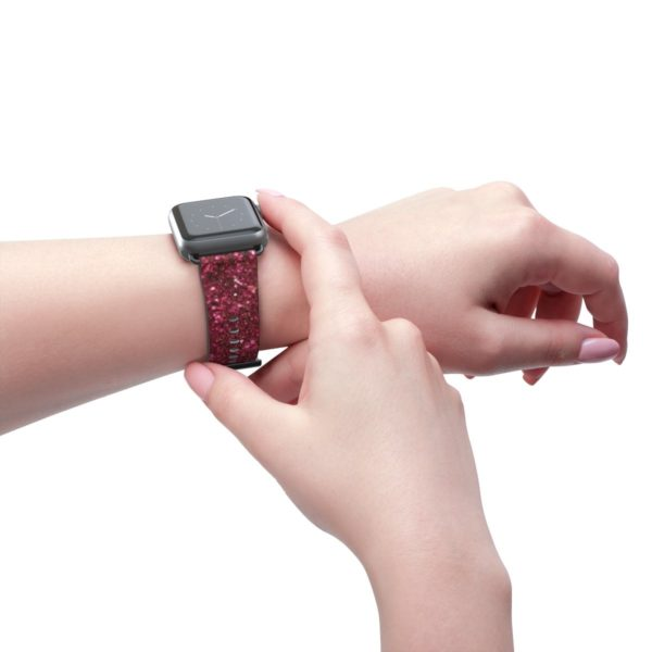 3D Red Glitter Watch Band - Noble Days
