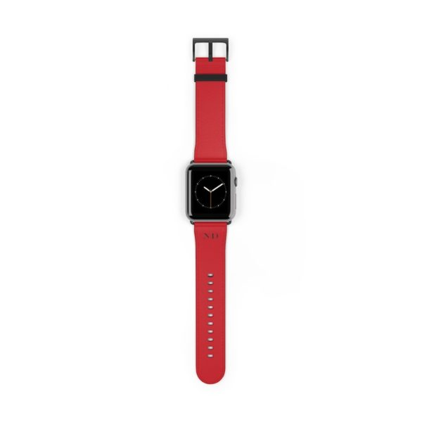 CC deep red iWatch Band - Vegan - Noble Days